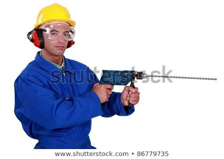 elektrik · ciddi · inşaat · çalışmak - stok fotoğraf © photography33
