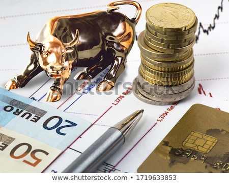 Charts, pen, banknotes and coins Stock photo © a2bb5s