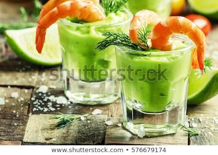 Voorgerechten avocado room garnalen voedsel diner Stockfoto © M-studio