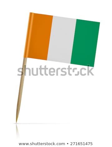 Miniatura banderą Wybrzeże Kości Słoniowej odizolowany spotkanie Zdjęcia stock © bosphorus