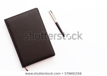 Siyah gündem kalem beyaz iş kâğıt Stok fotoğraf © wavebreak_media