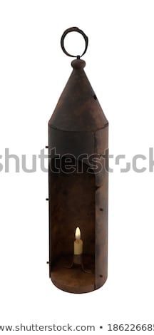 Old iron candlestick holder on table Stock photo © backyardproductions