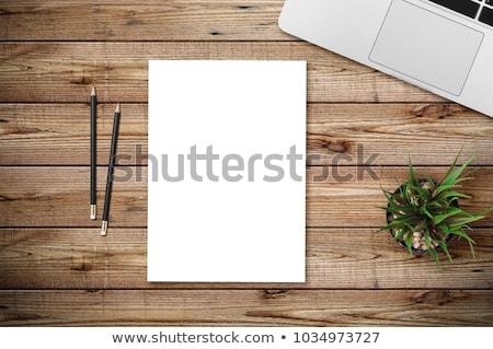 デスク · 白紙 · カップ · コーヒー · キーボード · ツリー - ストックフォト © maxmitzu