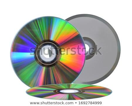 Foto stock: Branco · disco · cd · isolado · arquivo