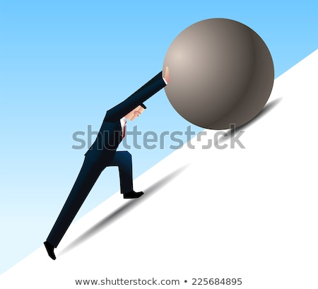 Businessman conquering adversity Stock photo © Lightsource