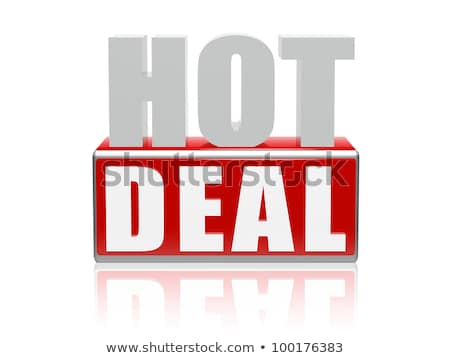 Stock photo: hot deal in 3d letters and block