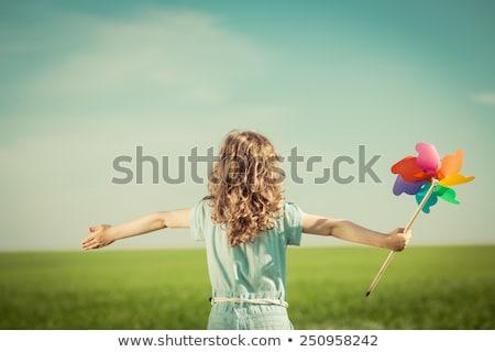 Stock fotó: Szabadság · széles · nyitva · fiatalember · kő · természet