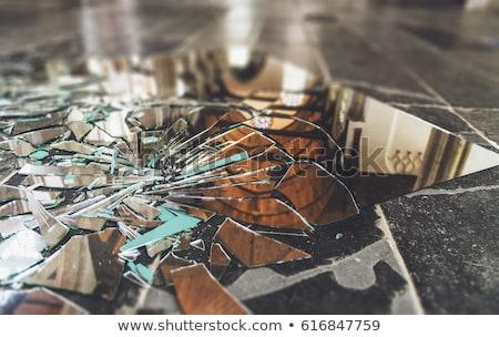 cacos · de · vidro · superfície · rachaduras · textura · abstrato · papel · de · parede - foto stock © stevanovicigor