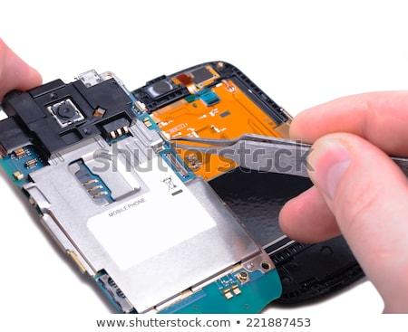 detay · elektronik · ana · tahta · çalışmak - stok fotoğraf © foka