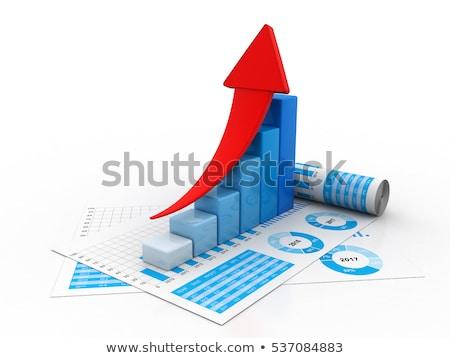 3D · бизнеса · роста · графа · аннотация · Финансы - Сток-фото © 4designersart