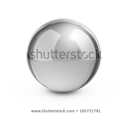 Photorealistic chrome ball Stock photo © Noedelhap