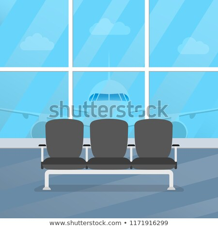 seats in airport hall waiting for passengers stock photo © kyolshin