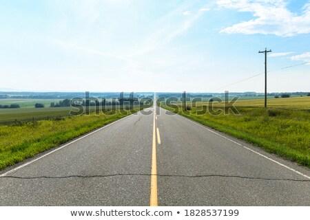 Boş yol manzaralı görmek düz Stok fotoğraf © mike_expert