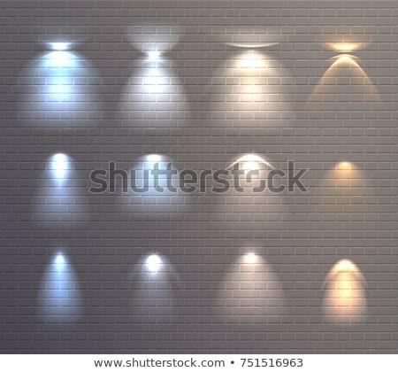 Mur lampe hôtel or fond Photo stock © smuki