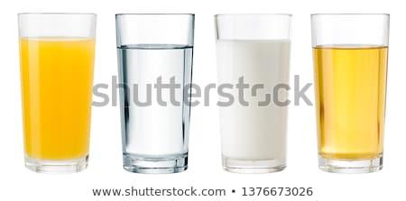 ガラス 水 ミルク サイド 青 浅い ストックフォト © jarenwicklund