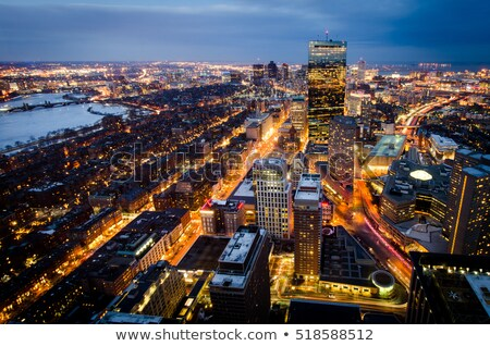 Boston Downtown panorama Stock photo © gophoto