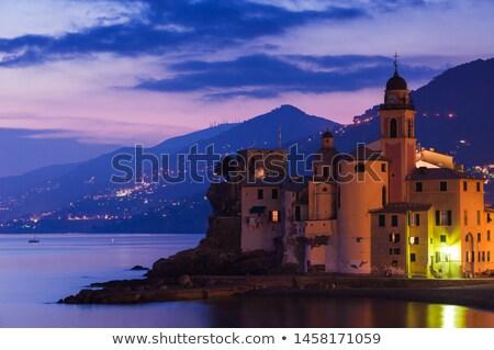Evening in the Village of Camogli near Genoa, Italy Stock photo © anshar