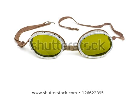 old safety goggles with green tinted glasses stock photo © zerbor