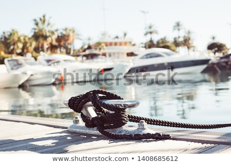 cuerdas · madera · vela · vela · transporte - foto stock © Laks