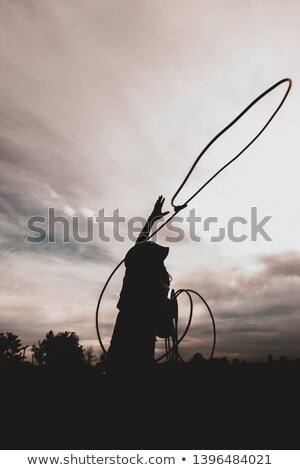 Beautiful Woman Cowgirl in a Dress Stock photo © rcarner