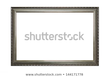Frame of old-style baget isolated on white. Stock photo © luckyraccoon