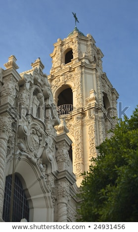 Ornate Carvings Steeple Mission Dolores San Francisco California Stock photo © billperry