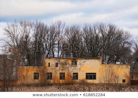 Verlaten gebouwen historisch fort spookstad Stockfoto © wolterk