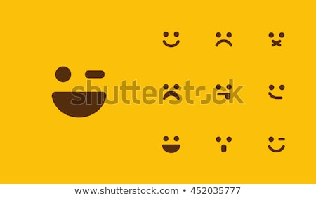Triest blij gezicht asian vrouw handen Stockfoto © szefei