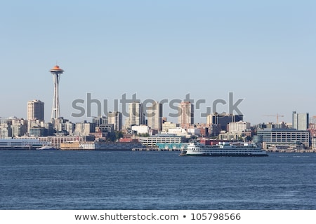 Seattle · skyline · meer · unie · Washington · boten - stockfoto © cboswell