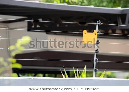 elektrik · çit · Metal · çim · doğa - stok fotoğraf © zkruger