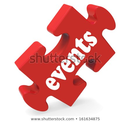 Events Puzzle Means Occasions Events Or Functions Stock photo © stuartmiles