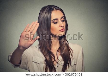 грубый женщину Sexy кожа брюки позируют Сток-фото © Studiotrebuchet