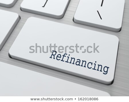 White Keyboard with Refinancing Button. Stock photo © tashatuvango