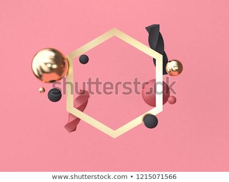 красный аннотация геометрический звезды текстуры свет Сток-фото © illustrart