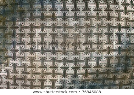 Pattern Of Green Maze Clothing Wall Paper Close Up Stok fotoğraf © vichie81
