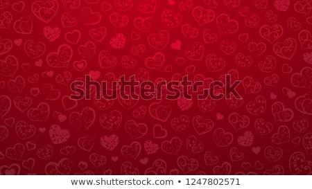 Projeto coração borboletas amor vermelho Foto stock © olgaaltunina