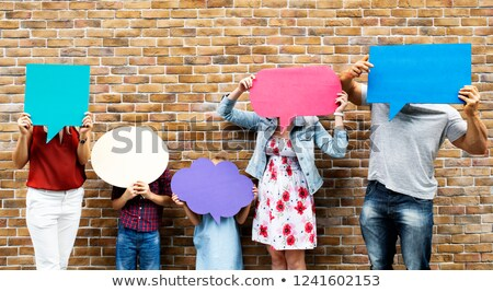 discours · personnes · ballons · vecteur · homme · résumé - photo stock © burakowski