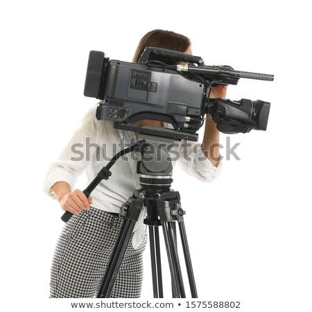 çekim kamera film ayarlamak dijital fotoğraf makinesi Stok fotoğraf © Kzenon