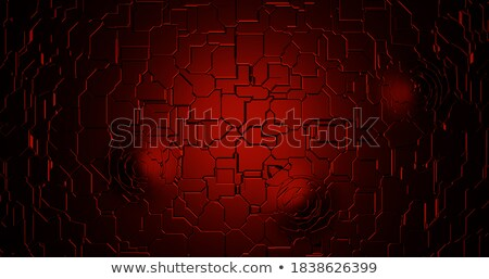Terror on Red Digital Background. Stock photo © tashatuvango