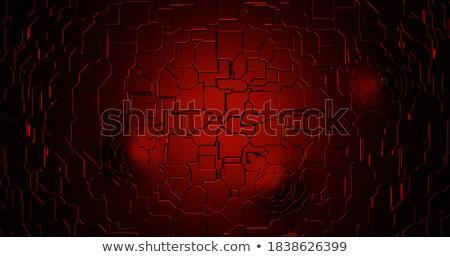 Terrore rosso digitale colore testo tecnologia Foto d'archivio © tashatuvango