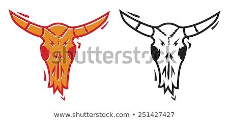 Orange Bold Bull head Stock photo © HunterX