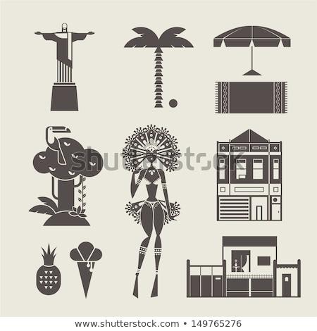 Iconen vector ingesteld gestileerde huis Stockfoto © vectorpro