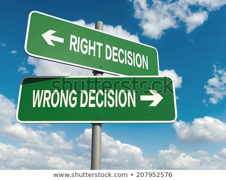 Direito decisão errado ilustração abstrato quadro de avisos Foto stock © burakowski