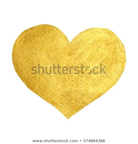 arany · szív · tökéletes · különböző · terv - stock fotó © lenaberntsen