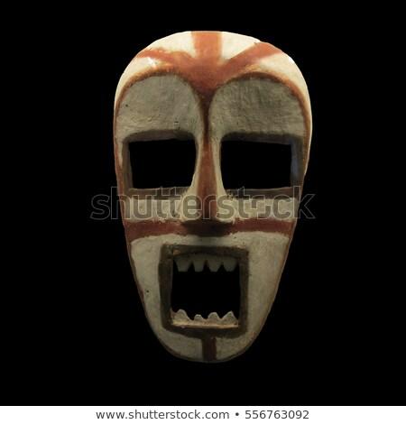 Eski kabile maske siyah yalıtılmış beyaz Stok fotoğraf © anbuch