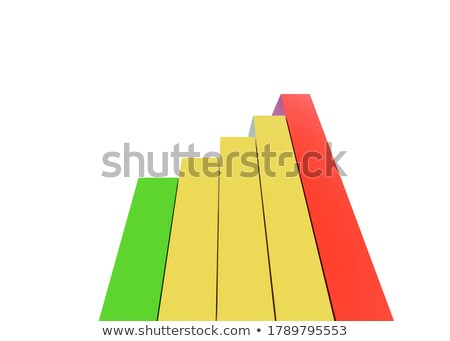 Close up of red and green bars on a stock market chart. Stock photo © latent