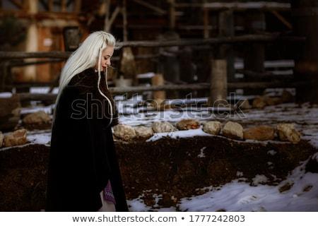 beautiful girl with a magic sword stock photo © nejron