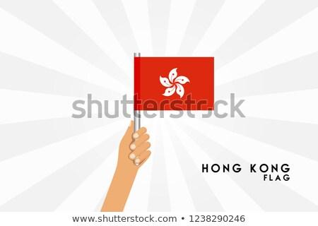 Hong-Kong faible pavillon carte mise au point sélective fond Photo stock © tashatuvango