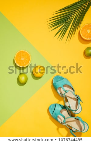 green sandals Stock photo © neirfy