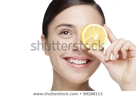 цитрусовые студию женщину счастливым Сток-фото © monkey_business